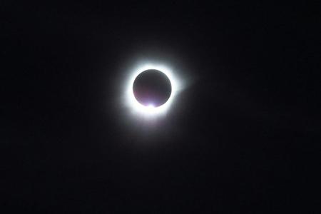 Foto gerhana matahari di Belitung
