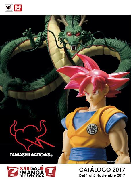 """Catálogo de figuras disponibles de Tamashii Nations en el """"XXIII Salón del Manga de Barcelona""""."""