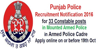 Punjab Armed Police recruitment 2016