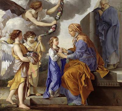 Imagem da Virgem Maria criança e Sant'Ana, pintura, #2