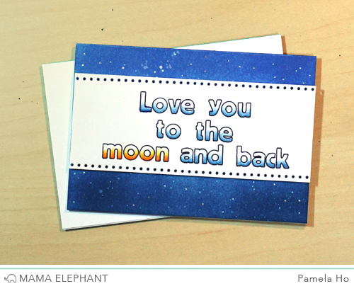 pamela spelled out a custom sentiment using the hollow letters we love the way she coloured each letter