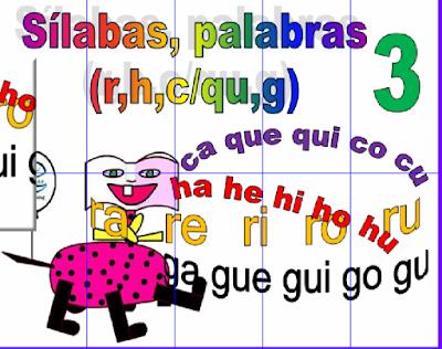 Resultado de imagen de LECTURA SILABAS Y PALABRAS