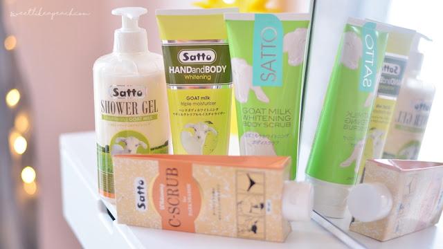 merawat kulitku menggunakan produk perawatan kulit dari brand Satto