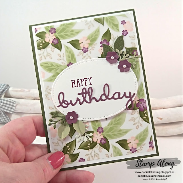 Stampin' Up! Floral Romance Specialty DSP teamdag lovely stampers