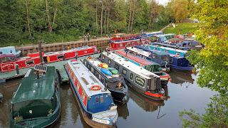 Bath marina, canal boats