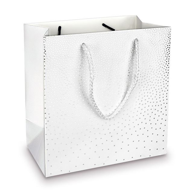 Shop Wholesale Metallic Polka Dots Gift Tote Bags at Nile Corp