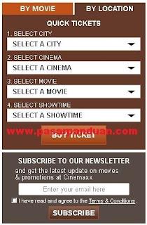 pesan tiket berdasarkan film atau lokasi