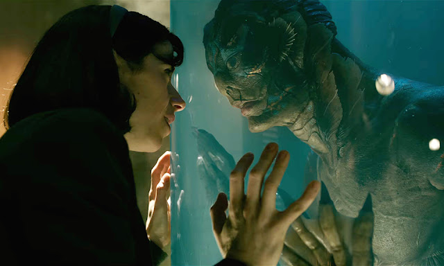"Sally Hawkins and Doug Jones in Guillermo del Toro's ""The Shape of Water"""