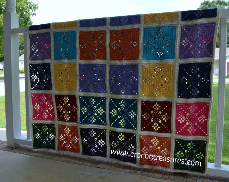 Crochet Treasures Victorian Lattice Afghan
