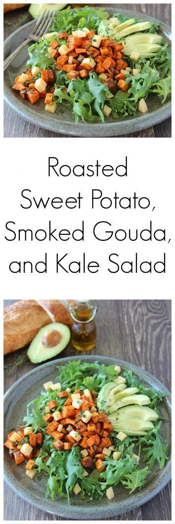Roasted Sweet Potato, Smoked Gouda, and Kale Salad