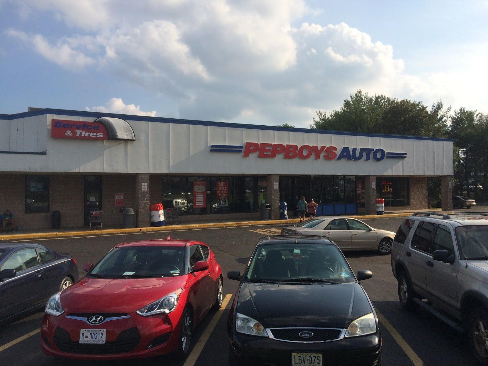 ocean county , nj history: pep boys, toms river, route 37 august 2016