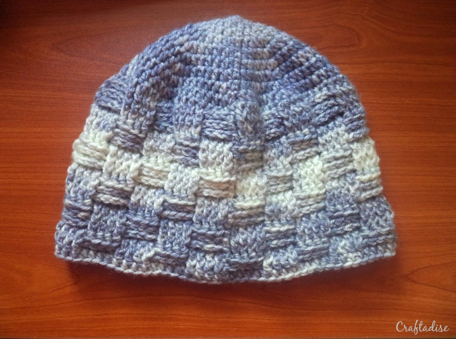 Free Crochet Pattern: Basketweave Beanie