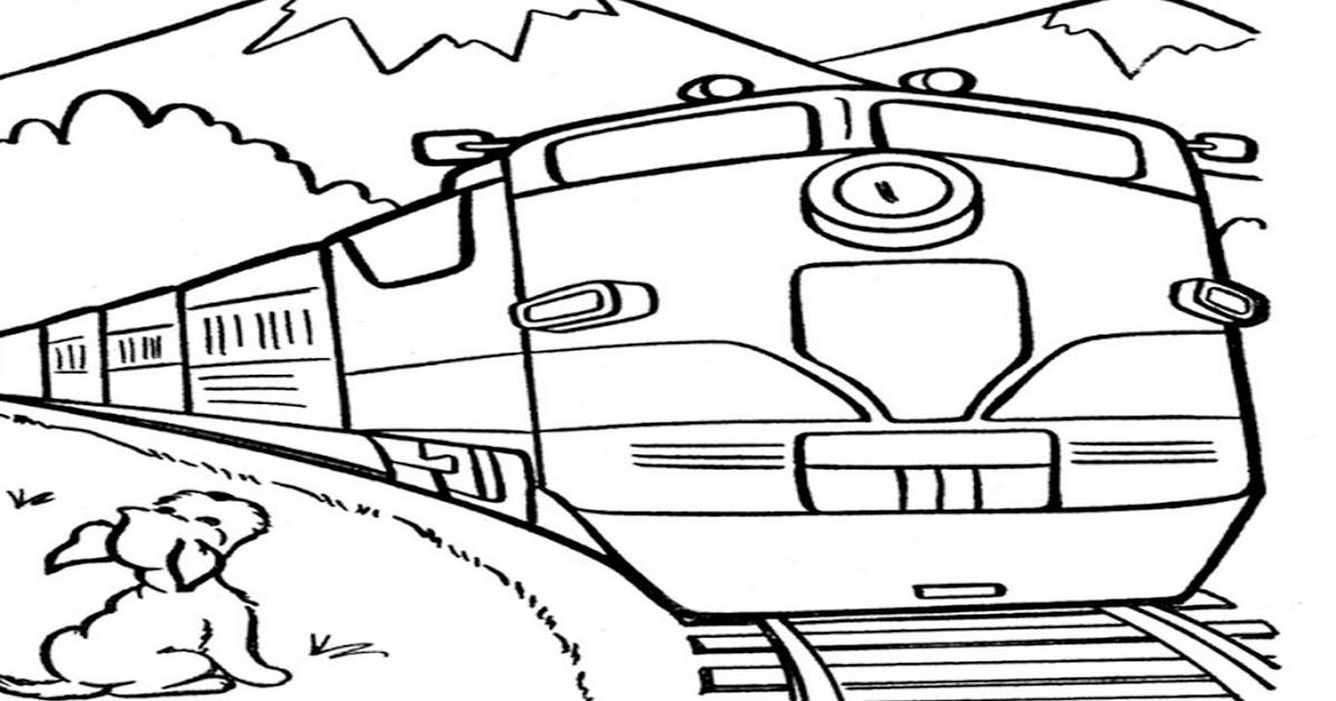 Gambar Kereta Api Thomas Hitam Putih Kumpulan Gambar Animasi Kereta Api Hitam Putih Hitamputih44