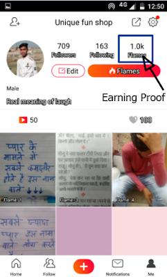 Vigo Video earning proof by anybuddyhelp