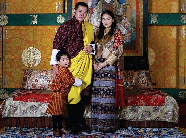 King Jigme Khesar Namgyel Wangchuck, Queen Jetsun Pema and their son Jigme Namgyel Wangchuck