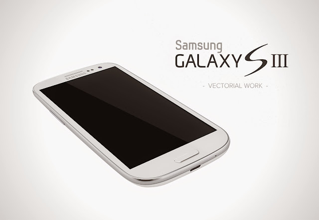 Galaxy S3 White Mockup