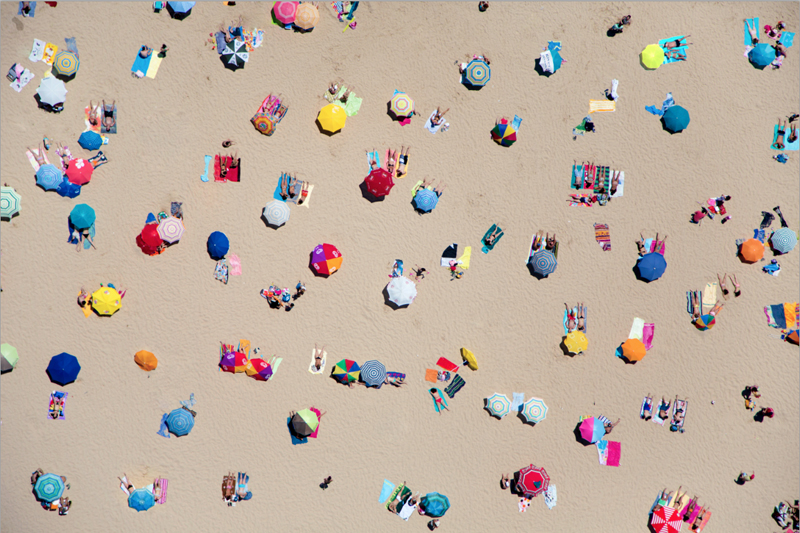 Of Dots & Things: Beach Top-view