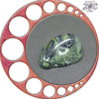 Instrumentos mágicos naturais - Presentes da Deusa Mãe: Jaspe Crocodilo