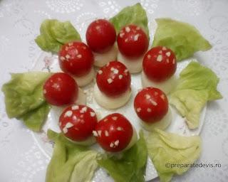 Ciupercute din oua si rosii retete culinare aperitive,