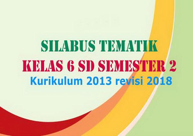 Silabus Tematik Kelas 6 SD Semester 2 Kurikulum 2013 revisi 2018