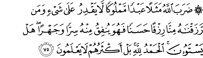 Surat An Nahl Ayat 75