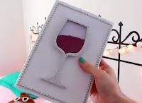 Tapas DIY para libretas geniales - copa de vino