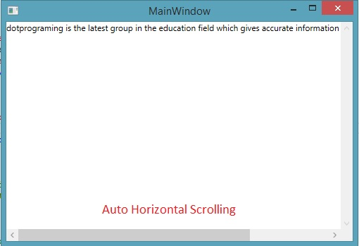 TextBlock enabled Scrolling with ScrollViewer control in WPF