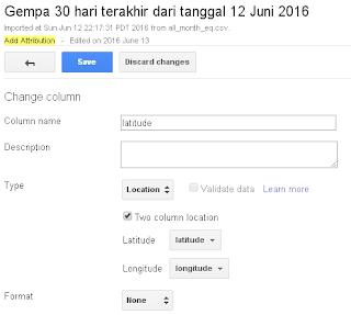 Merubah Tipe Kolom Table Google Fusion