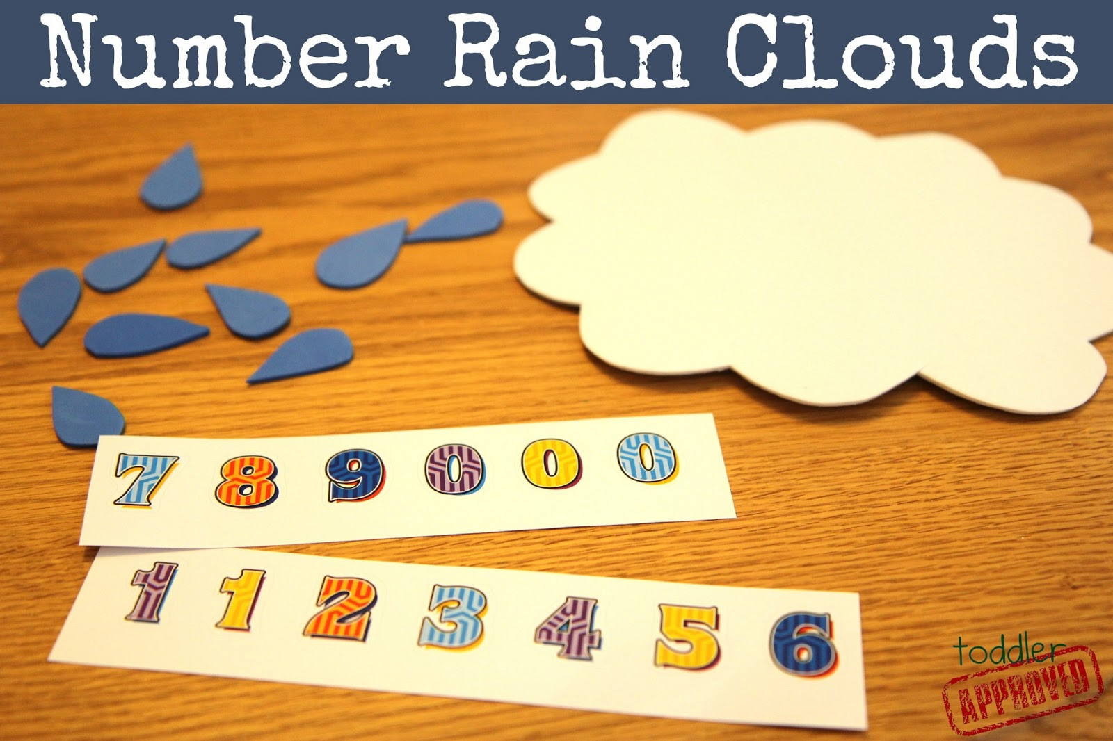 Toddler Approved Rain Drop Math