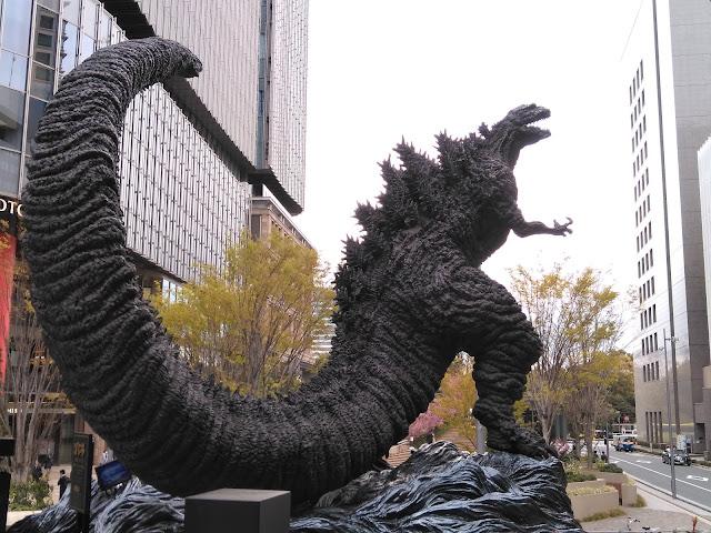 Las 5 estatuas de Godzilla en Tokio