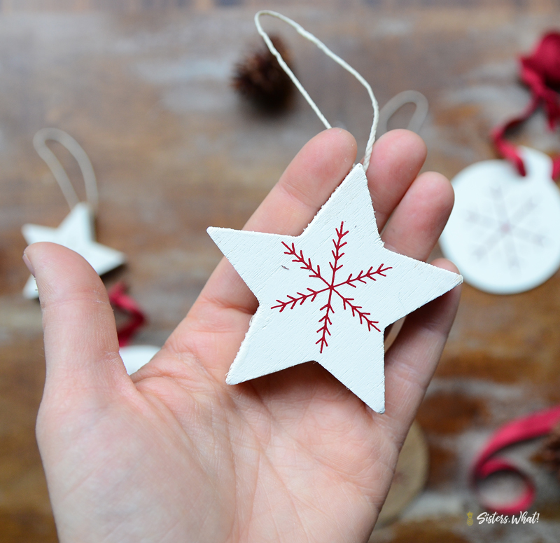 scandinavian snowflake star christmas decoration