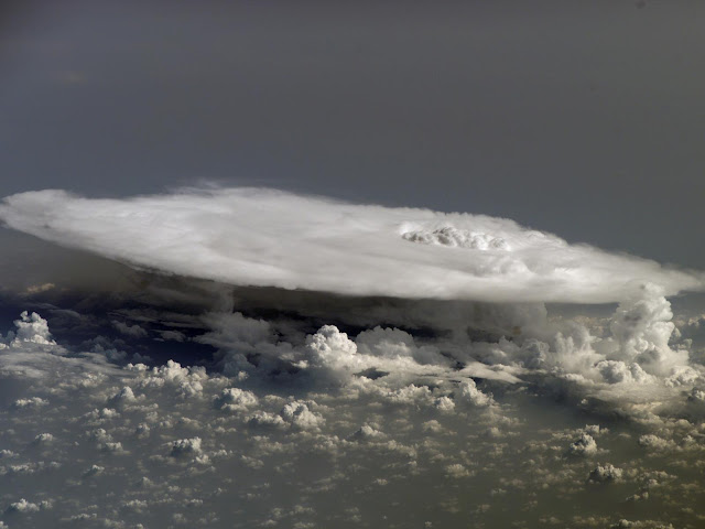Cumulonimbus Cloud over Africa seen from the International Space Station