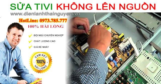 Sửa tivi không lên nguồn tại nhà Thái Nguyên