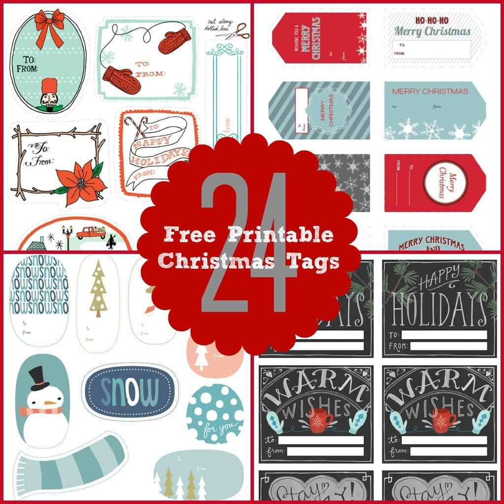 24 Christmas Tags Amp Games Free Printables