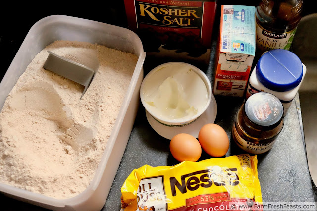 ingredients to make healthy wholewheat tiramisu muffins