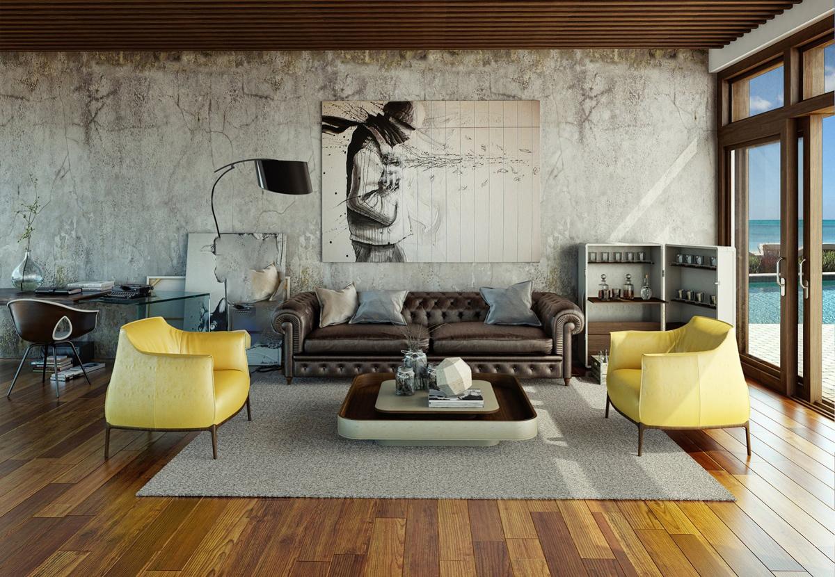Awesomely stilige urbane stuer - interiør inspirasjon