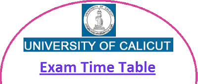 Calicut University Time Table April May 2020