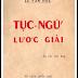Tục Ngữ Lược Giải - Lê Văn Hòe (3 Quyển)