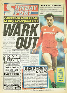 Back page of the Sunday Sport newspaper from 12-4-87