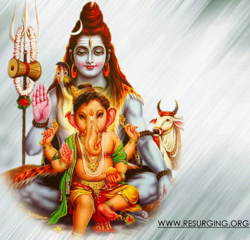 lord shiva and ganesha