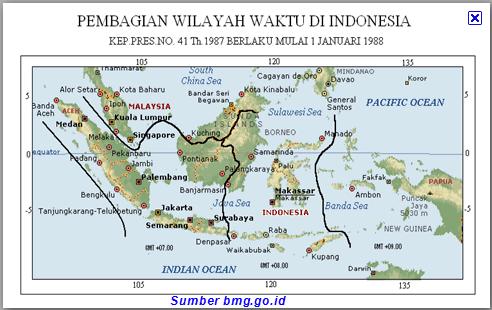 Coretan Guru Pembagian Wilayah Waktu Indonesia