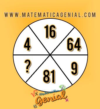 Qual o valor que falta na sequência deste círculo? - Desafio