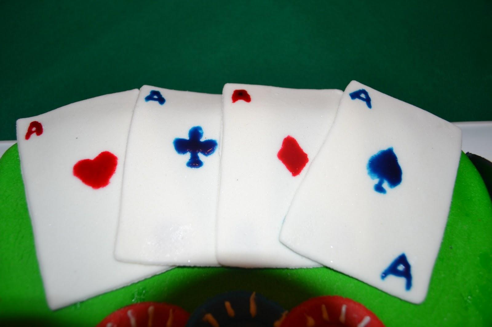Poker Birthday Cake