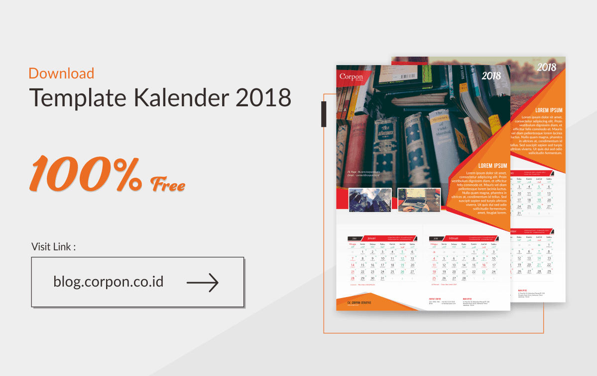 Download Gratis Template Kalender 2018 Terbaru Update!