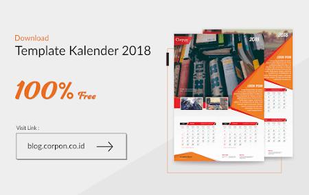 Download Gratis Template Kalender 2018 Terbaru