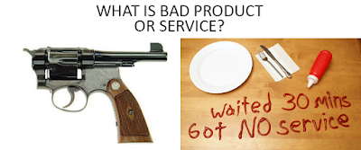 What is Bad product or services