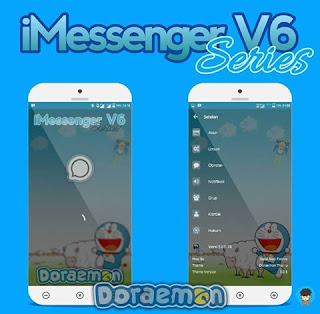 iMessenger V6 Series Doraemon Theme V3.0.0.18 APK Transparan