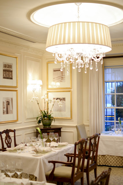 The Lafayette dining room at the Hay-Adams hotel