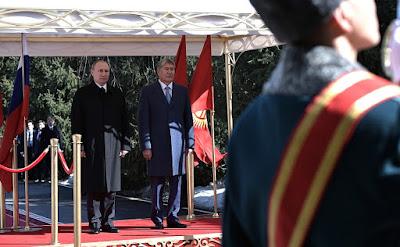 Vladimir Putin with President of Kyrgyzstan Almazbek Atambayev.