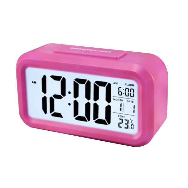 smart lcd digital alarm clock led clock ebay. Black Bedroom Furniture Sets. Home Design Ideas